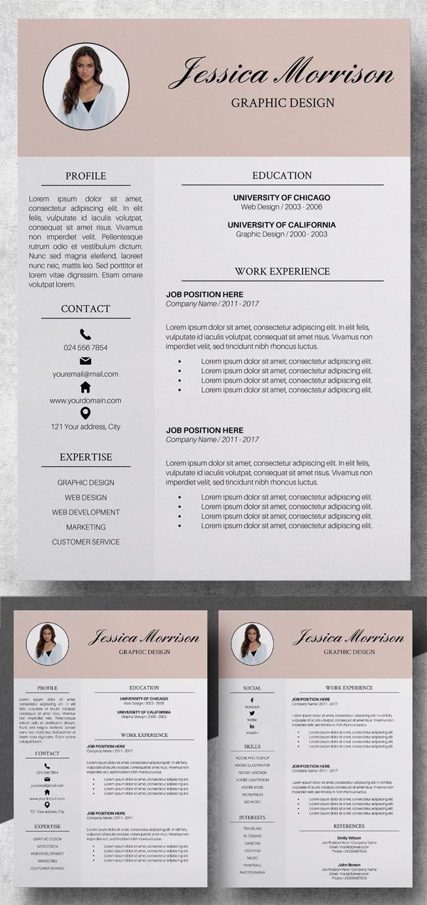 20 Best Simple Clean Resume Templates   Resume design ...