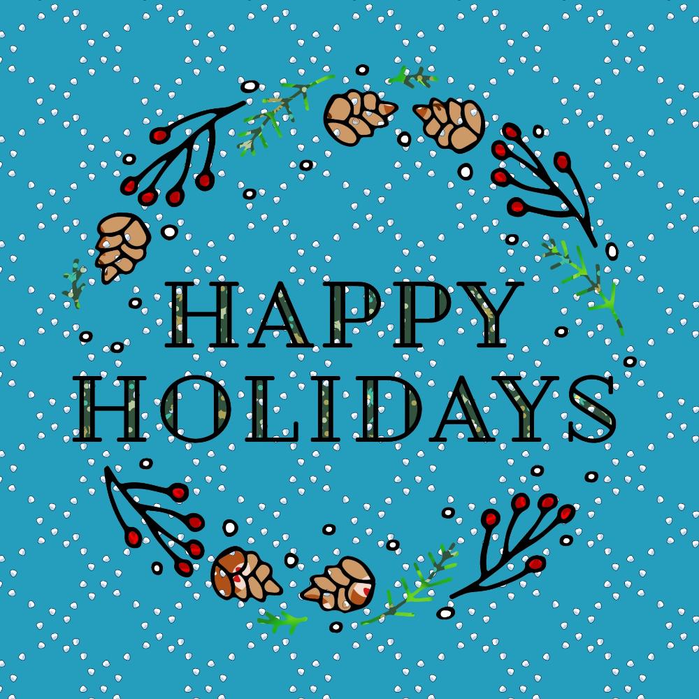 Happy Holiday Greeting Free Stock Photo Public Domain Pictures Happy Holidays Greetings Holiday Greetings Greetings Images