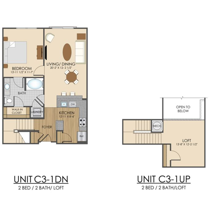 Cottage Floor Plans, Loft Floor