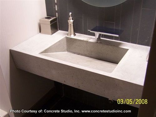 Concrete Countertop Rubber Sink Mold Sdp 8 Ramp 24 X15 75 Sink