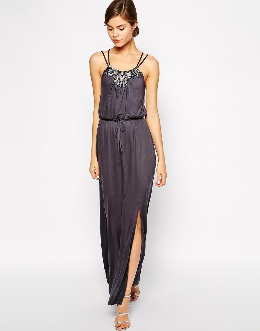 Warehouse warehouse embellished maxi dress at asos elegant