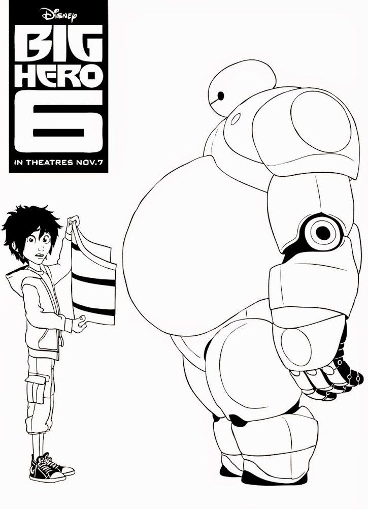 Hiro And Baymax Coloring Pages