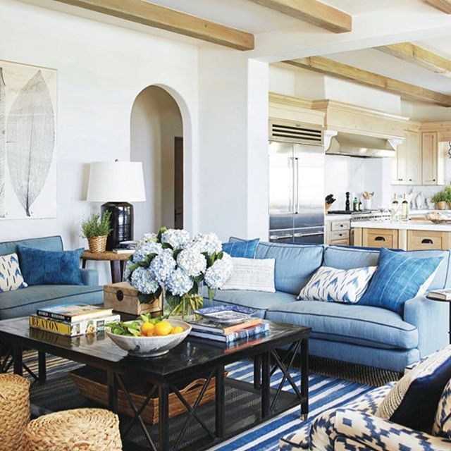 Beautifulbook Design: The Navy Contrast Piping On The Sofas The Mix Of