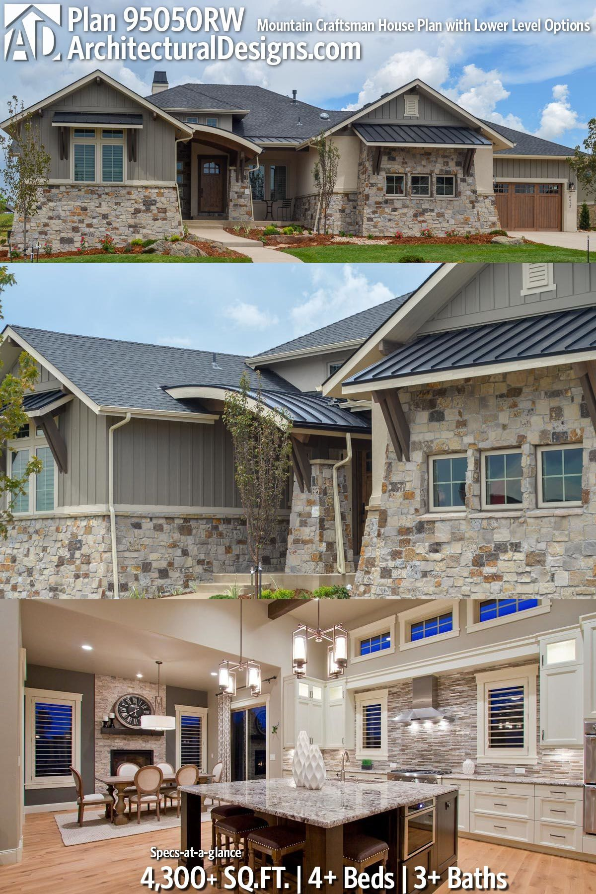 Plan 95050rw Mountain Craftsman House With Lower