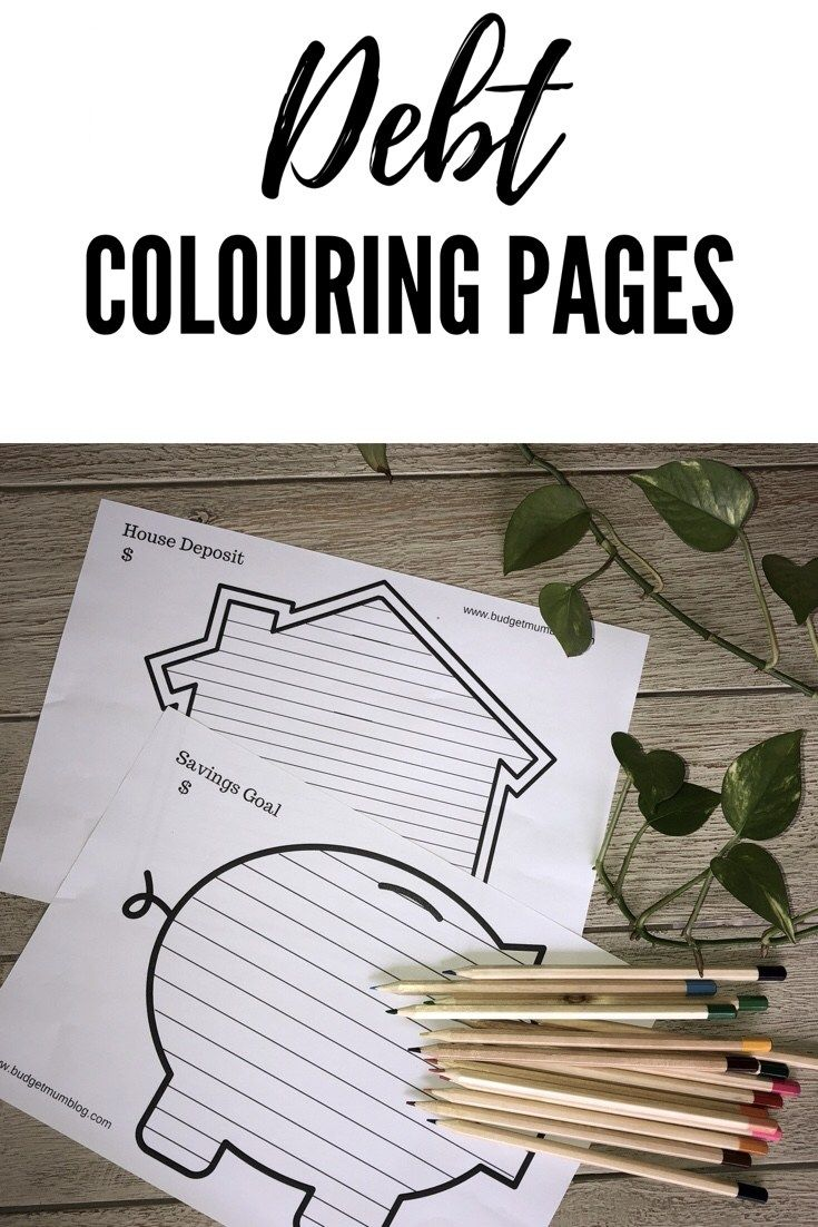 Debt Free colouring sheets | Personal Finance | Free ...