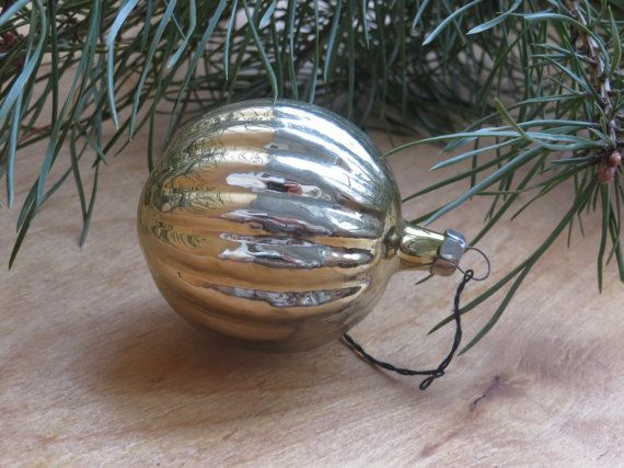 Soviet ornaments Set of 2 Christmas Glass Ornaments, Vintage