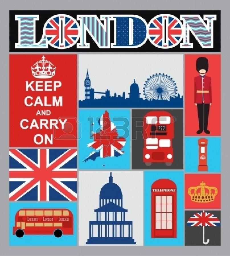 Londres carte de dessin vectoriel illustration Banque d'images