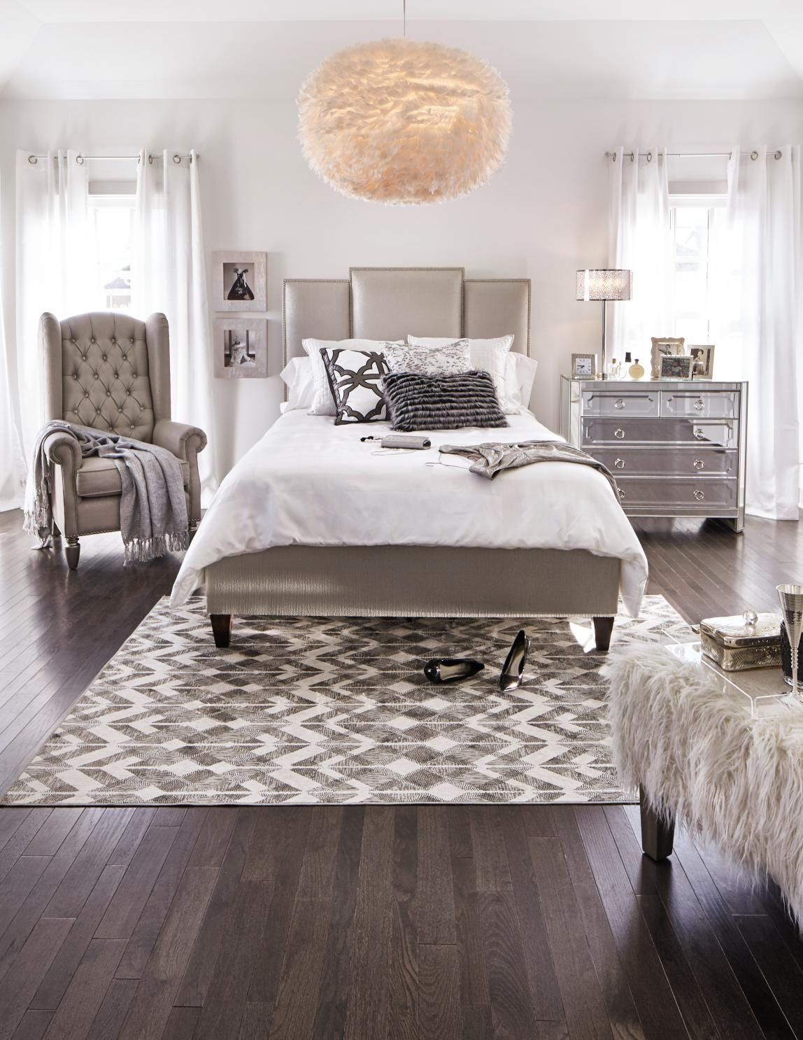 Sparkle up your bedroom with the stunning Delano bedroom