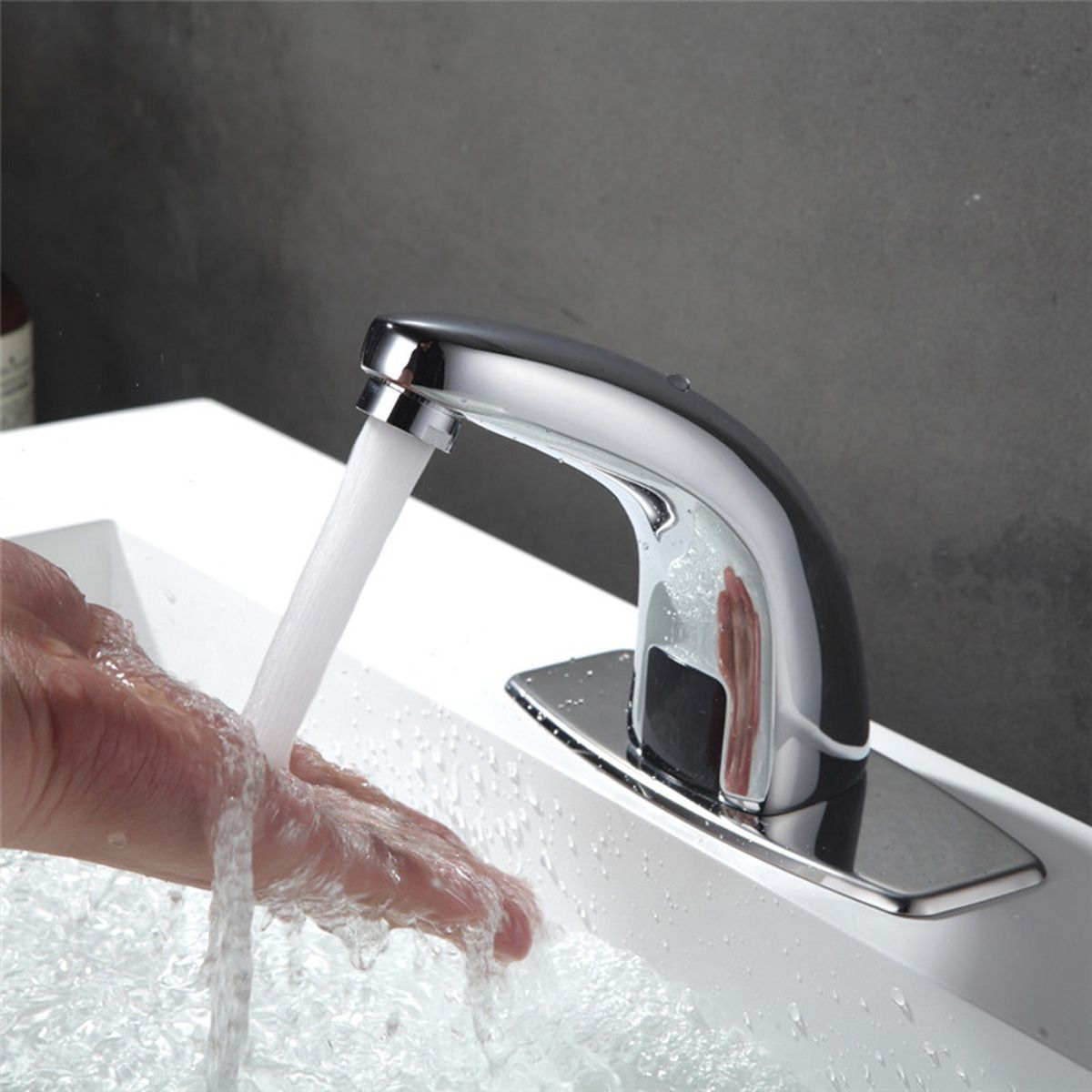 Automatic Tap Hand Free Infrared Sensor Faucet Kitchen Bathroom
