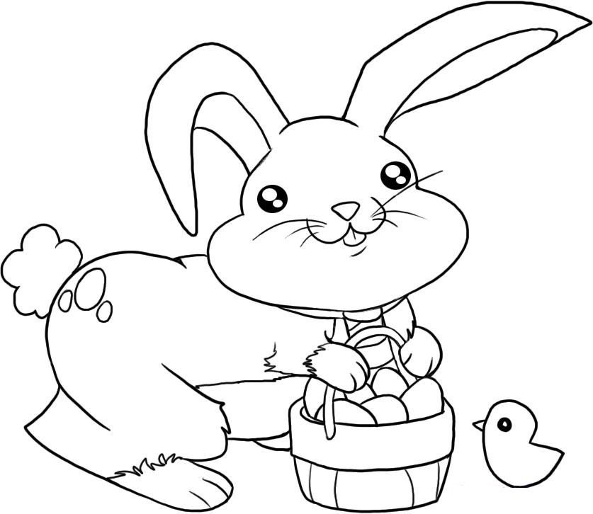 cute bunny coloring pages for kids activity  malvorlage