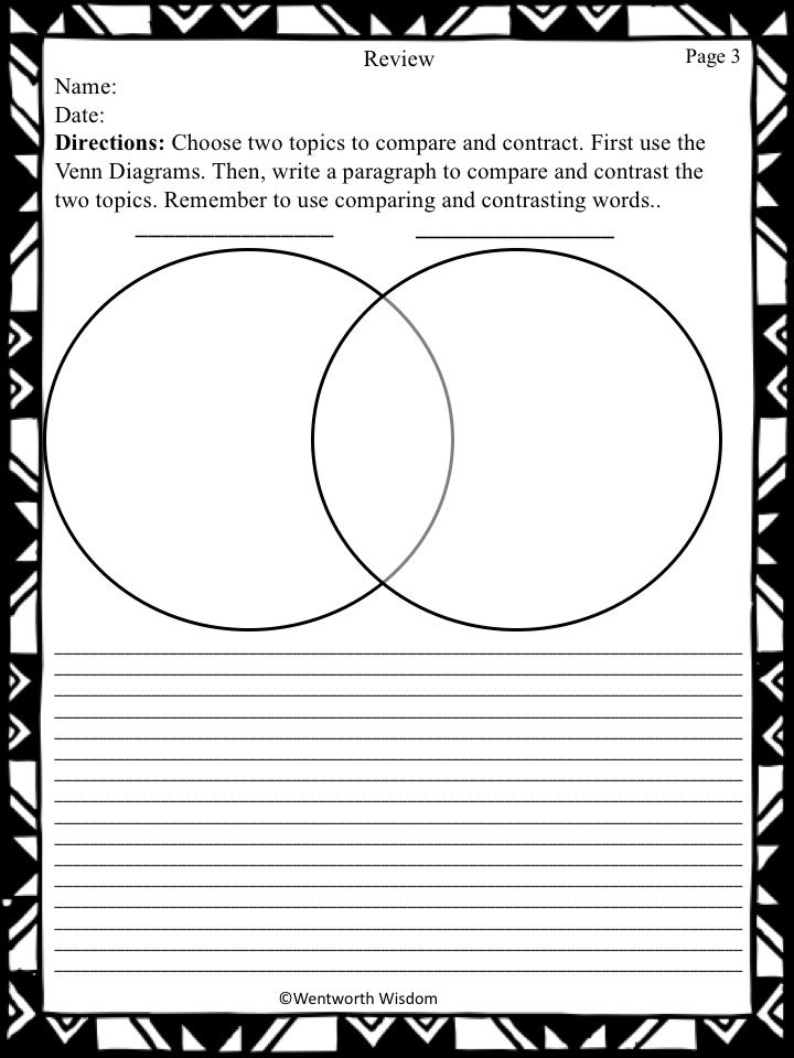 Compare and Contrast Writing Activites   Compare, contrast ...