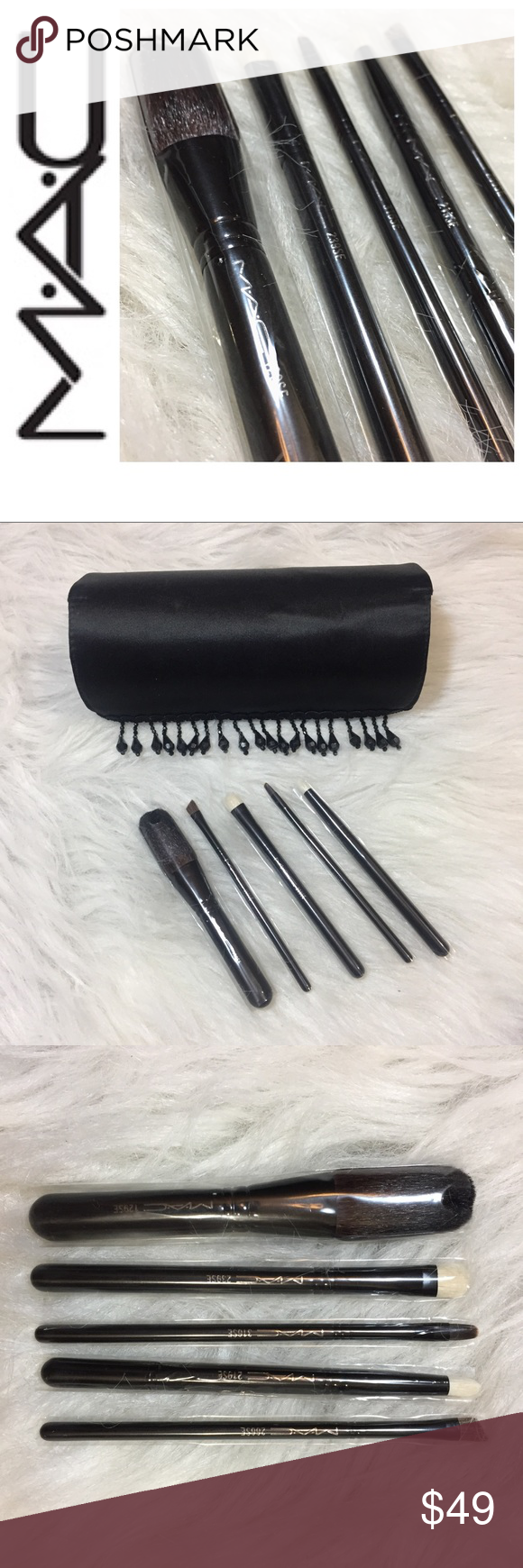 NEW Mac brushes gift set in black. NWT Makeup brushes