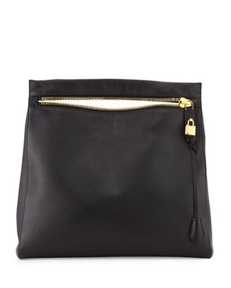 906973222f72 Alix Grained Leather Zip Hobo Bag, Black by Tom Ford at Bergdorf Goodman.
