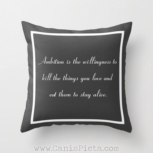 Excited to share this item from #CanisPicta my #etsy shop: 30 Rock Inspired 16x16 Throw Pillow TV Show Jack Donaghy Quote Decorative Cover Pop Culture Humor Funny Brown Grey Couch Art Home Cushion #30Rock