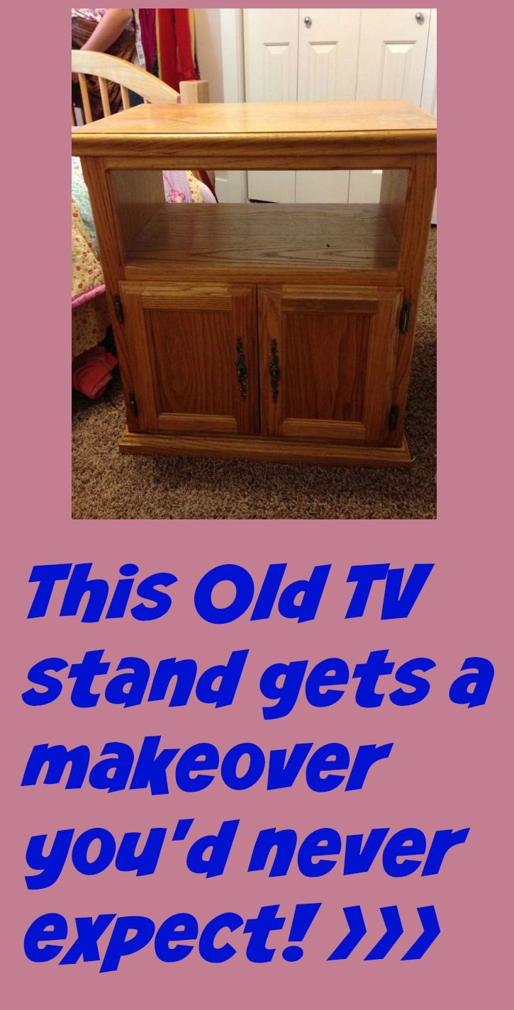 Old Oak Tv Stand Turned Nightstand Old Tv Stands Tv