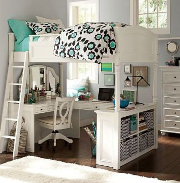 office bunk bed. Teen Girl\u0027s Bedroom With Vanity Loft Bunk Bed Set. Great Little Study And Getaway Area For A Teen. I Have Wanted Bed/loft Ever! Office