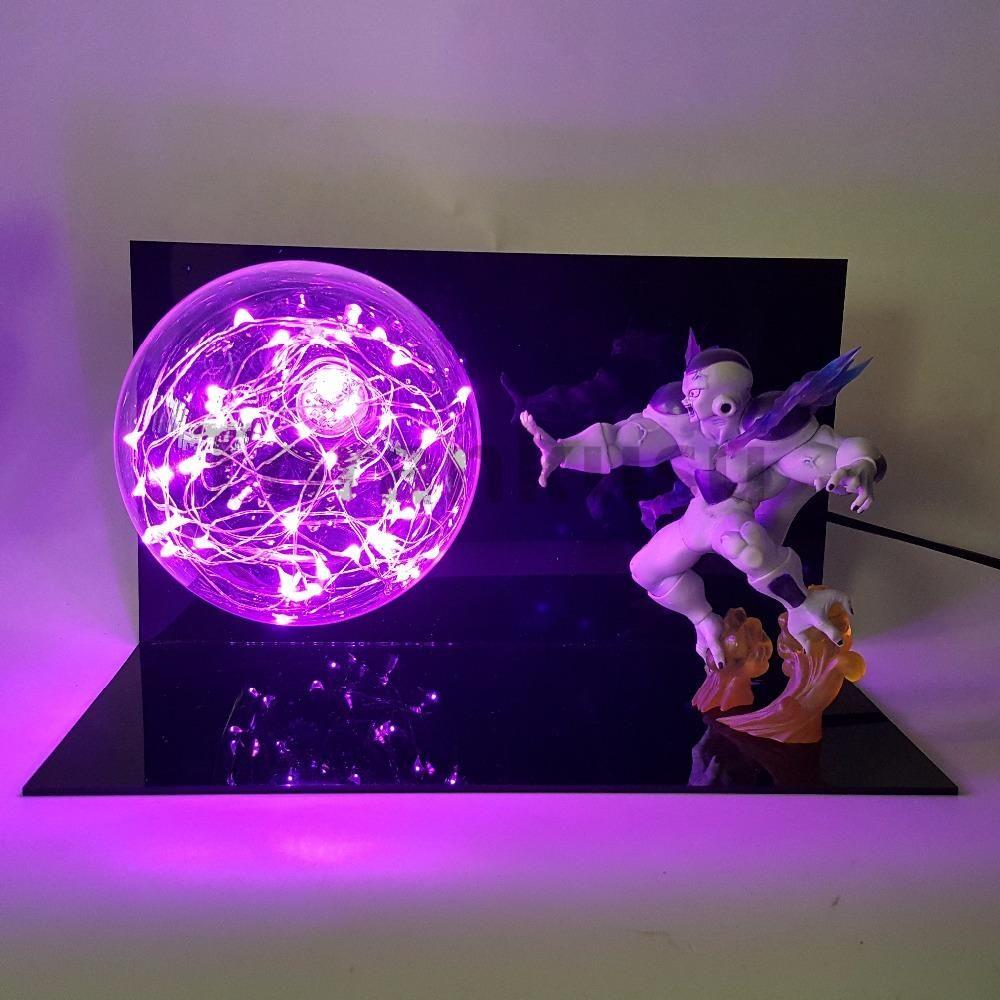 Dragon Ball Broly Vs Vegeta Led Night Light Dragon Ball Super Anime Figure Green Rock Base Table Lamp Lampara Dragon Ball Dbz Goods Of Every Description Are Available Led Night Lights
