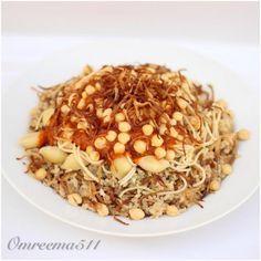 الكشري المصري من ام ريما Egyptian Koshari By Om Reema Recipes Vegetarian Recipes Food