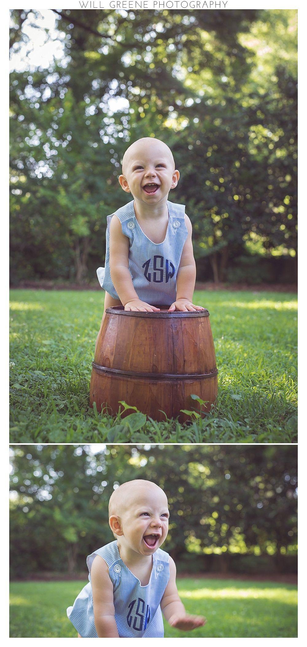 Zeke's 1 year photo shoot & cake smash, Wilson NC, Will Greene Photography