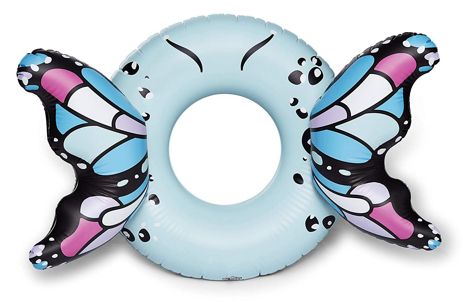 Bigmouth Inc Giant Inflatable Angel Wings Pool Float Pool Tube With Patch Kit Included Beaut Blue Butterfly Wings Butterfly Wings Giant Butterfly
