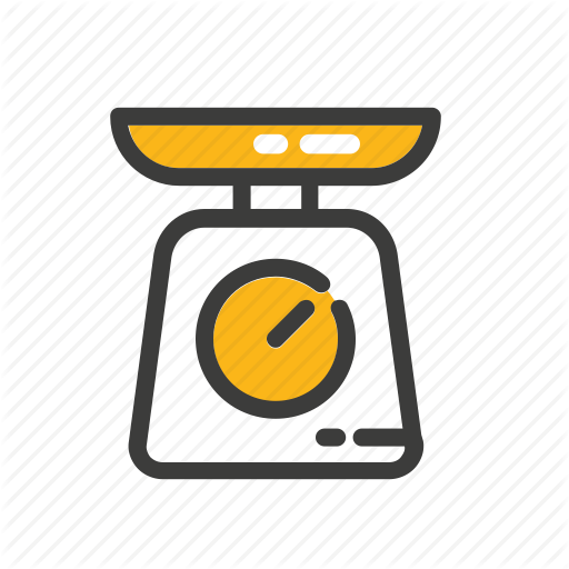 Cooking Scale Set Weight Icon Download On Iconfinder Icon Baby Shower Gift Bags Pop Up Frame