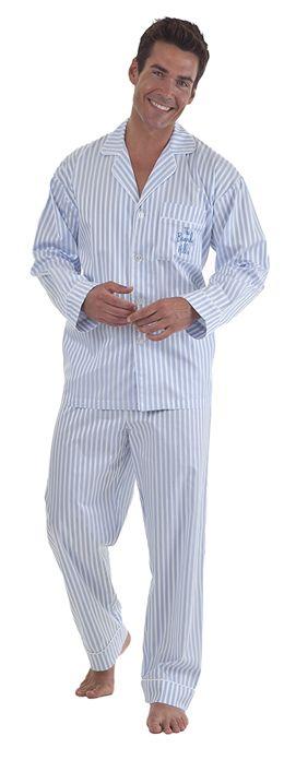 35f87e875e Bedhead Men s 3D Blue Stripe Fine Cotton Pajama
