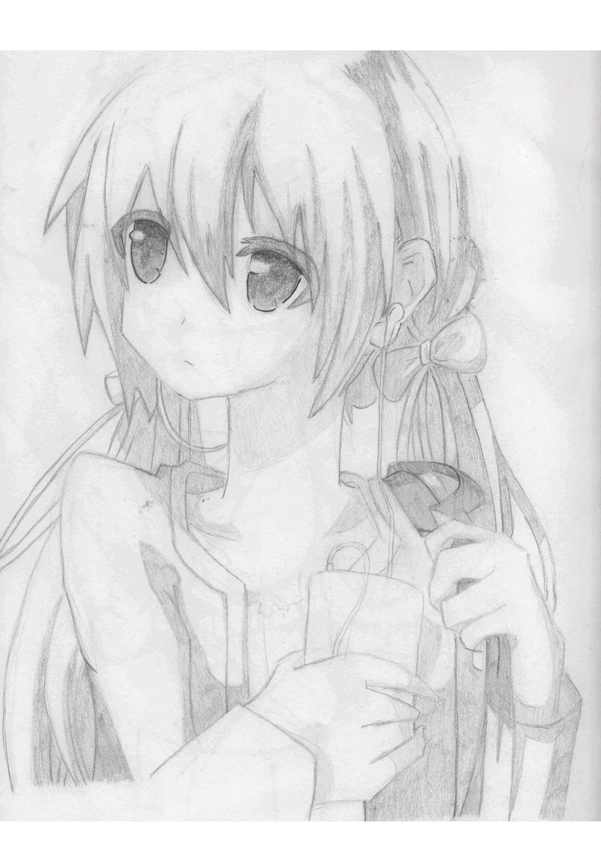 Hatsune Miku Pencil Drawings My Drawings Anime