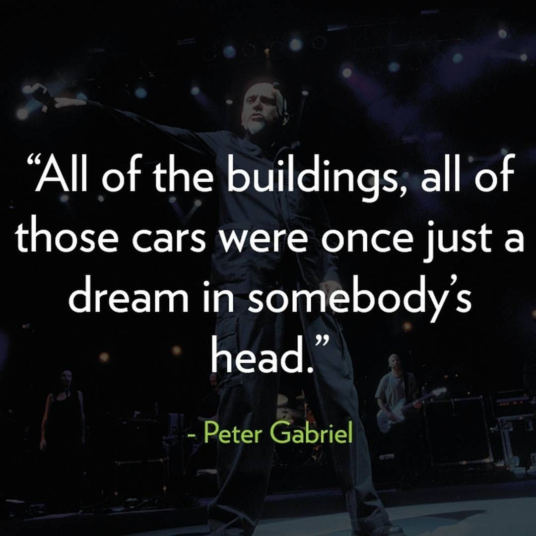 """Peter Gabriel is an English singer-songwriter and musician. He is a highly decorated musician, having won an incredible 6 Grammy Awards and 13 Video Music Awards. Gabriel came to fame as the eccentric lead singer for UK band Genesis in the early 1970s, before leaving on poor terms. In his subsequent solo career, Gabriel's first four albums were identically titled """"Peter Gabriel"""" and featured similar album art. #brainfood #music #Genesis #quotes #nootropics #dedication #ambition #greatminds"""