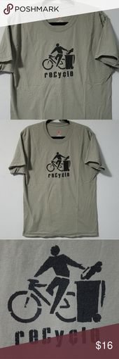 Awesome Hanes funny bicycle recycling tshirt L A perfect shirt for the environmSkincare