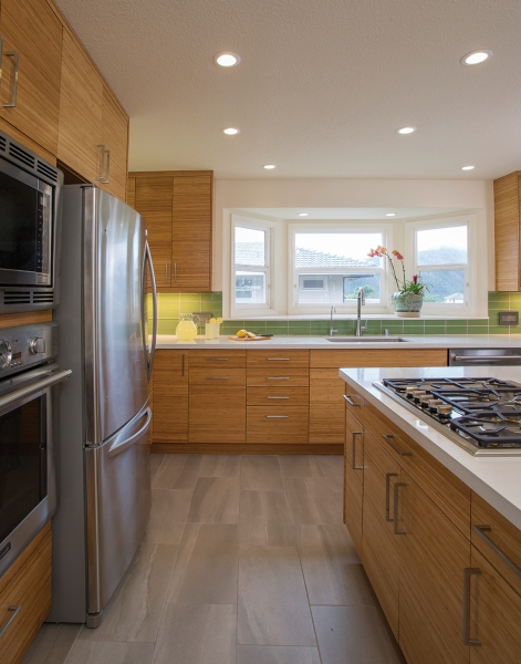 The Green Room An Eco Friendly Hawaii Kai Kitchen Makeover Bamboo Kitchen Cabinets Green Rooms Kitchen Makeover