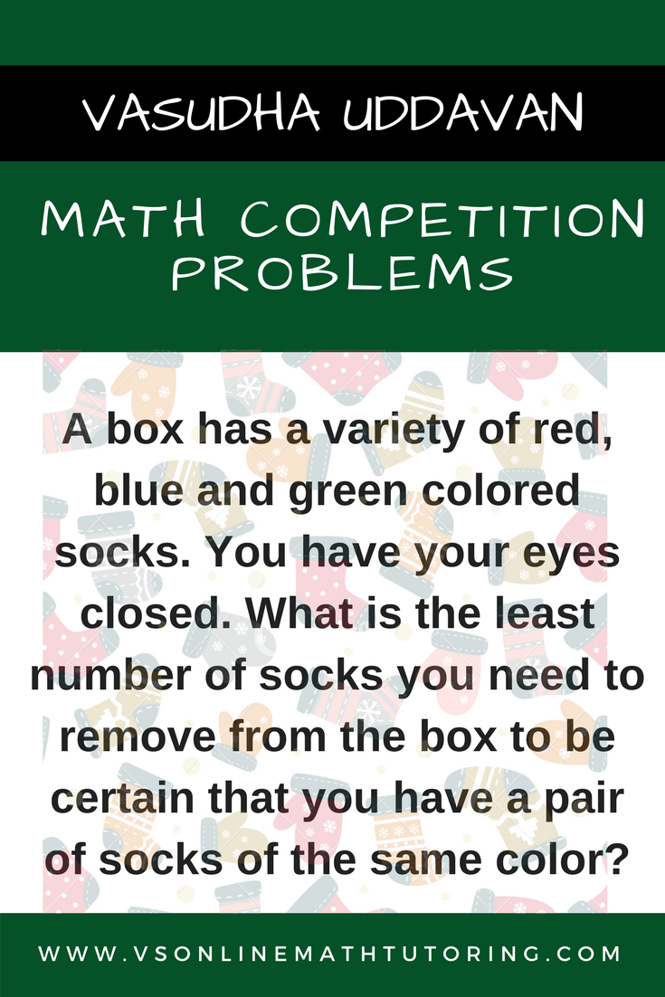 Learn To Solve Worst Case Scenario Problems Click On The Pin For Solution And Similar Problems Math Competition How To Memorize Things Worst Case Scenario [ 1102 x 735 Pixel ]
