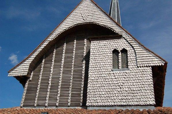 Eglise-a-pans-de-bois. Eglise-a-pans-de-bois . église Sainte-Croix-en-son-Exaltation à Bailly-le-Franc. Champagne