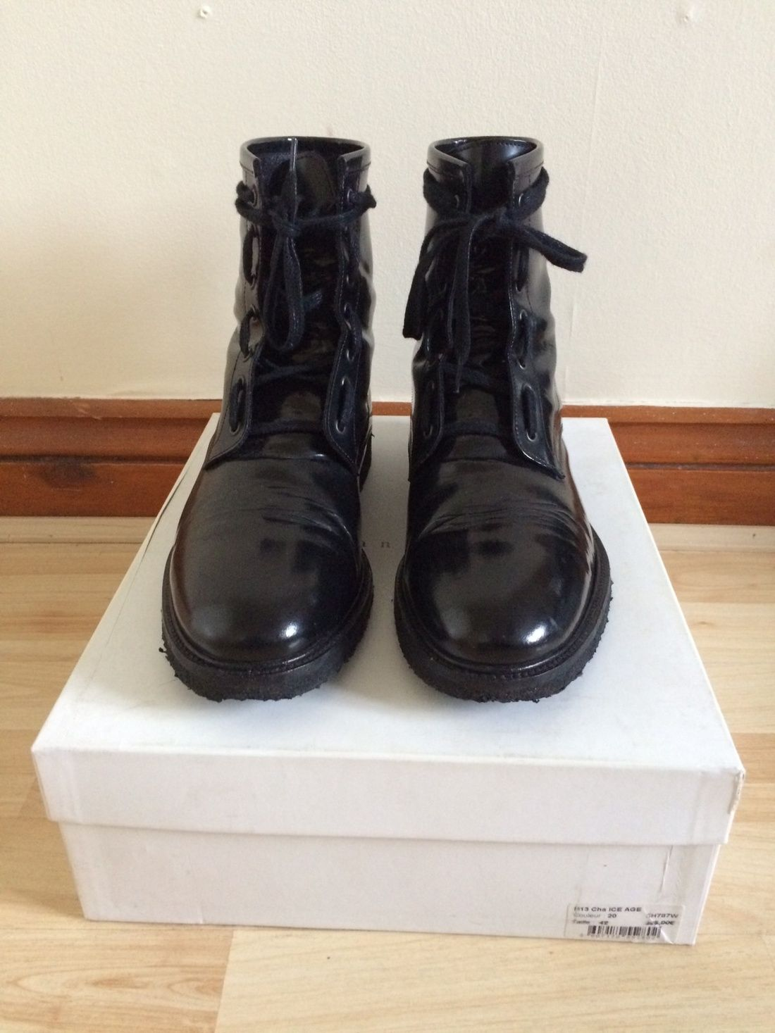 697bc6a62a2 Sandro Combat Boots Similar To Dior Homme Navigate And Saint Laurent Size 9   327 - Grailed