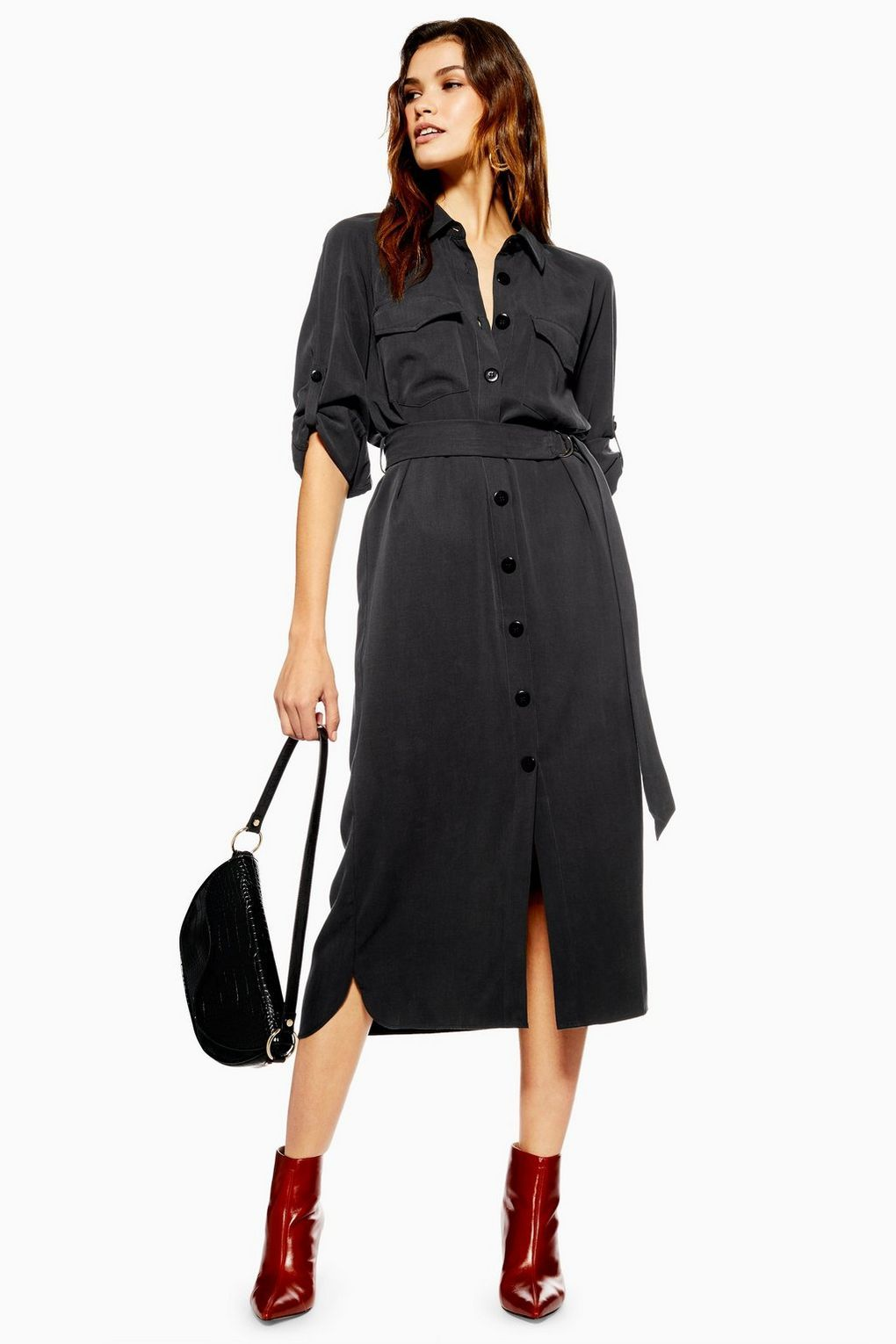 95f9bd08f88b Utility Midi Shirt Dress in 2019 | ♛ Smart Casual ♛ To Buy ...