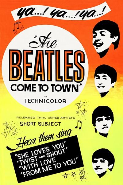 The Beatles come to town vintage movie poster print