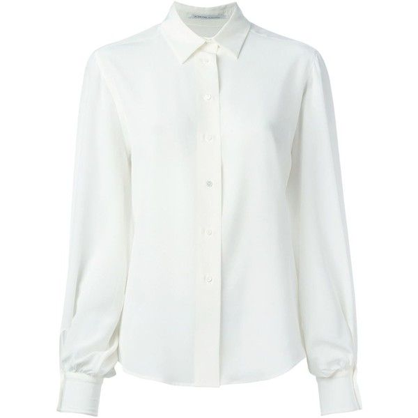 a61c0c997766d Agnona Classic Button Down Shirt ( 635) ❤ liked on Polyvore featuring tops