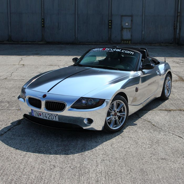 Bmw Z4 Used Cars: Chrome BMW Z4 By Brutal Car Wraps