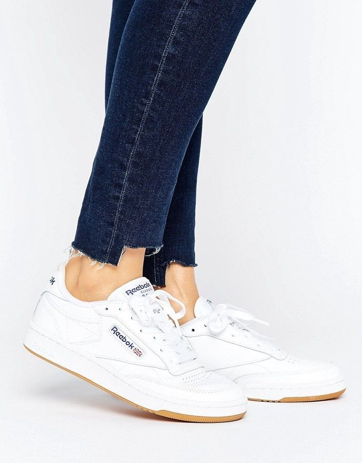 canta Metropolitano robot  Reebok Club C 85 Sneakers With Gum Sole | Reebok shoes women, Womens  sneakers, Trending shoes