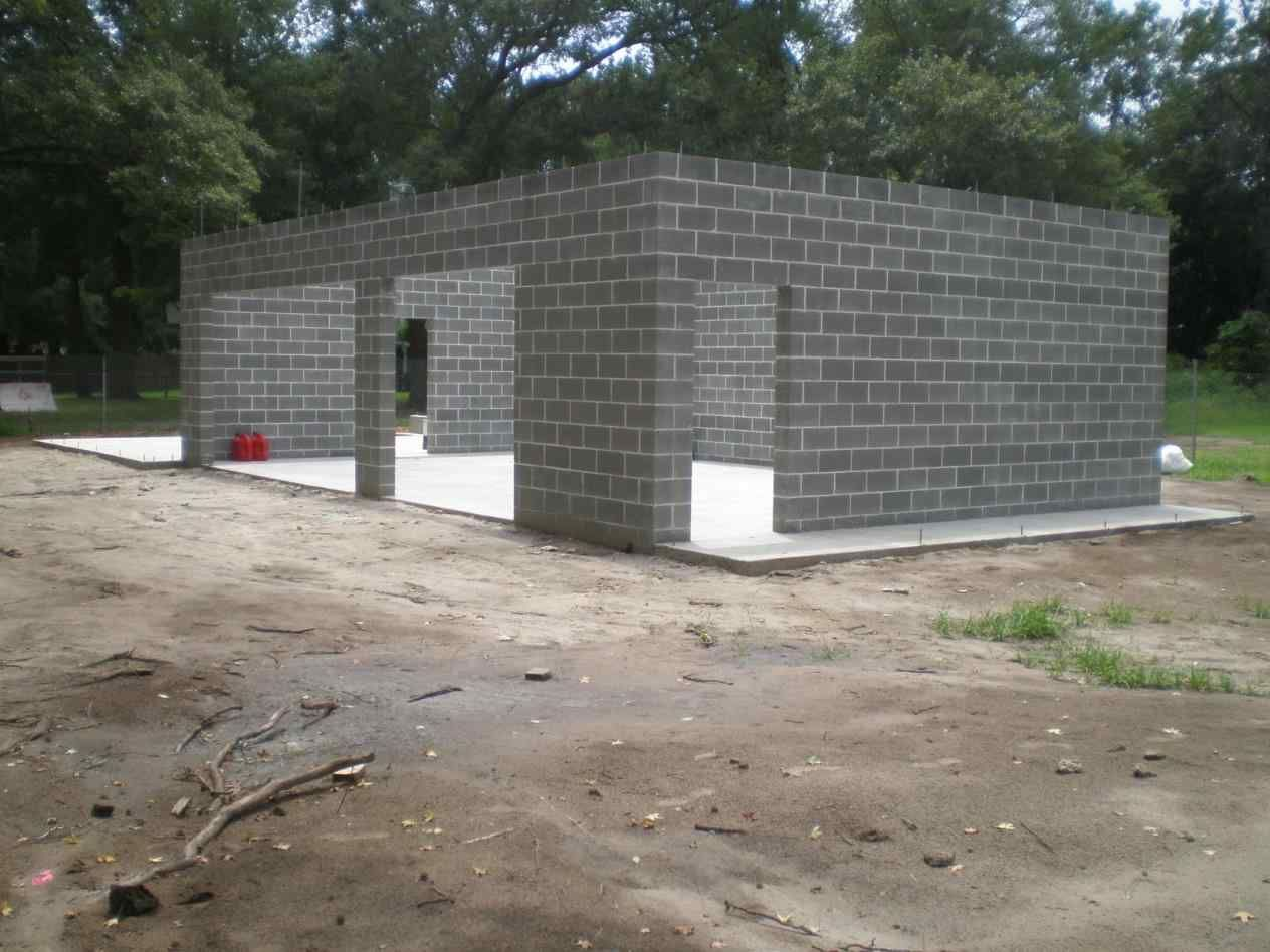 Image Result For Concrete Block Garage Cinder Block House Garage Building Plans Concrete Houses