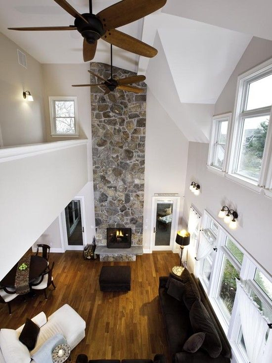 Traditional two story great room design pictures remodel for Traditional great room designs