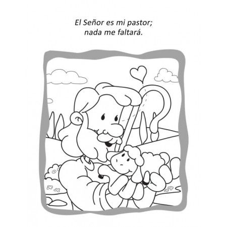 Salmo 23 Cuaderno Para Colorear Salmos Para Ninos Lecciones