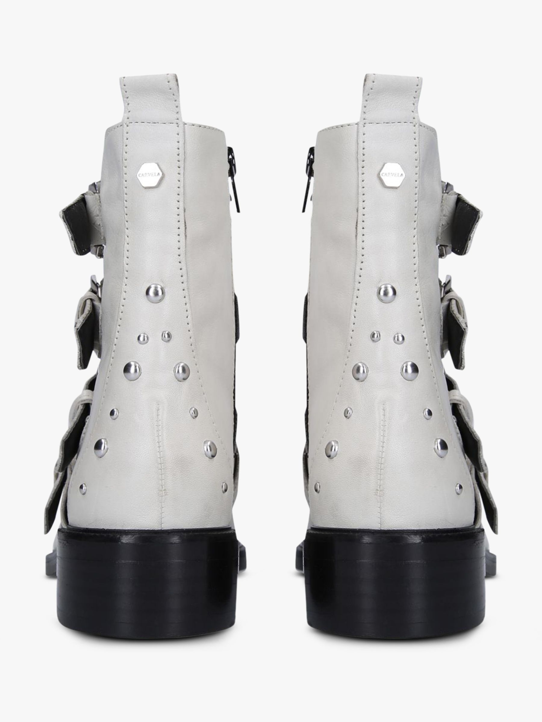 Carvela Scant Buckle Ankle Boots, White