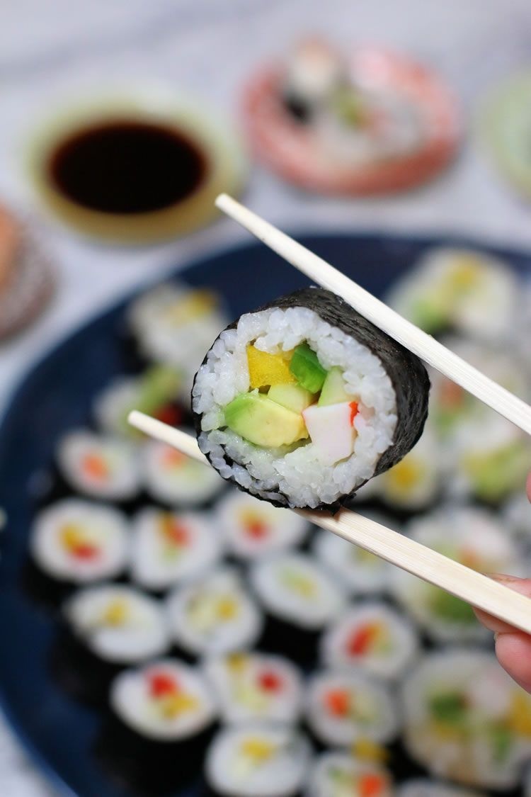 Making Sushi Rolls For Your Holiday Party Is Easy Here S How Better Living Recipe Making Sushi Rolls Sushi Recipes Homemade Easy Sushi Rolls