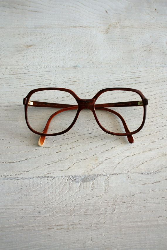 Items similar to oversize vintage turtle brown frame- unisex nerd glasses - vintage frames on Etsy