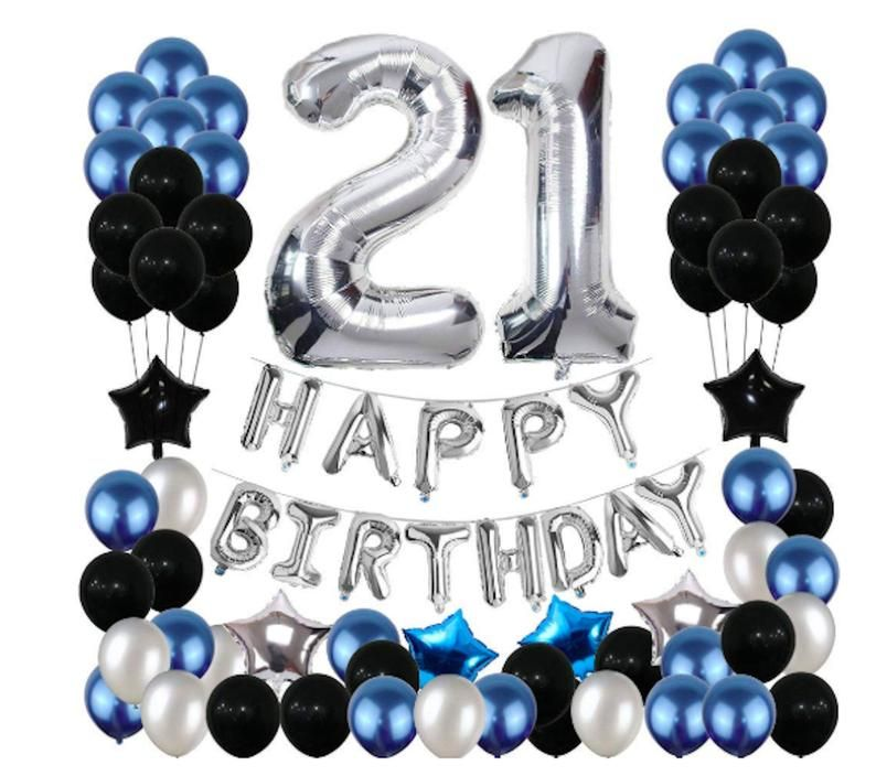 This Item Is Unavailable Etsy 21st Birthday Decorations Blue Party Decorations 21 Birthday Party Decorations