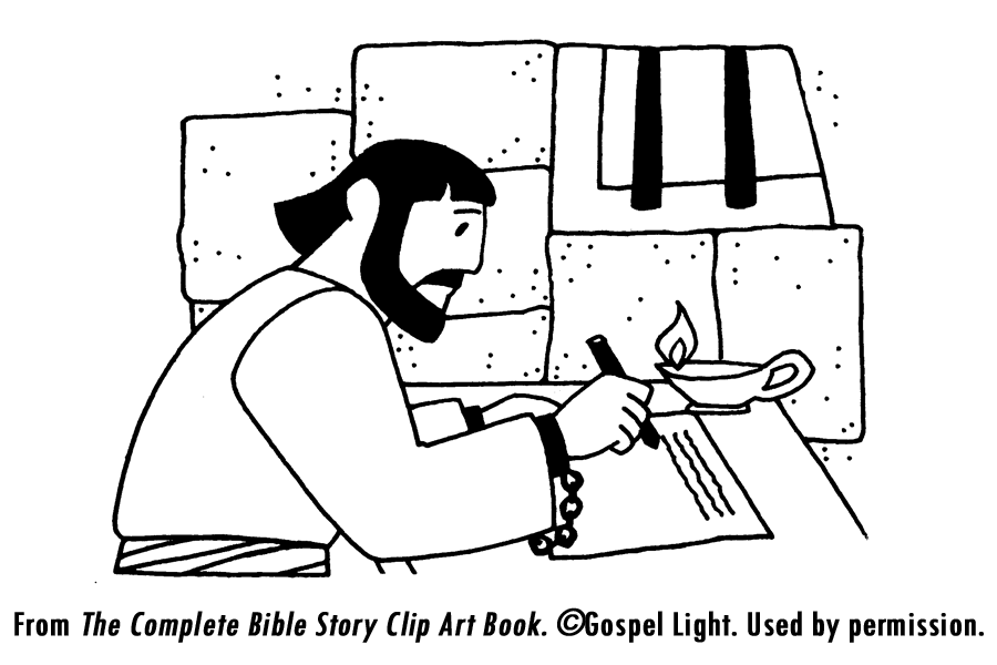 Peter Wrote Letters Coloring Page  Paul Writes Letters From