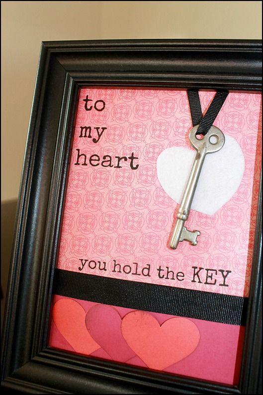 The key to my heart Valentine/'s CraftDecor