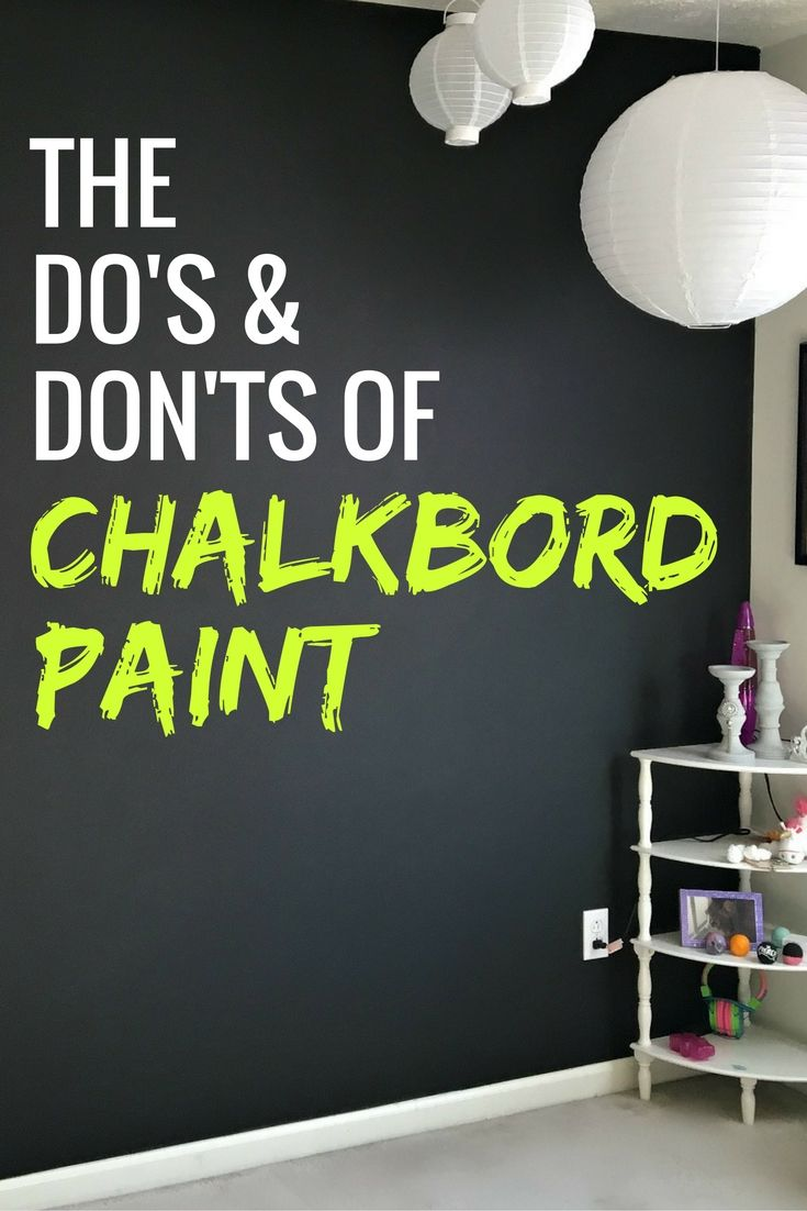Do 39 s and don 39 ts of chalkboard paint to make a design Accent wall do s and don ts