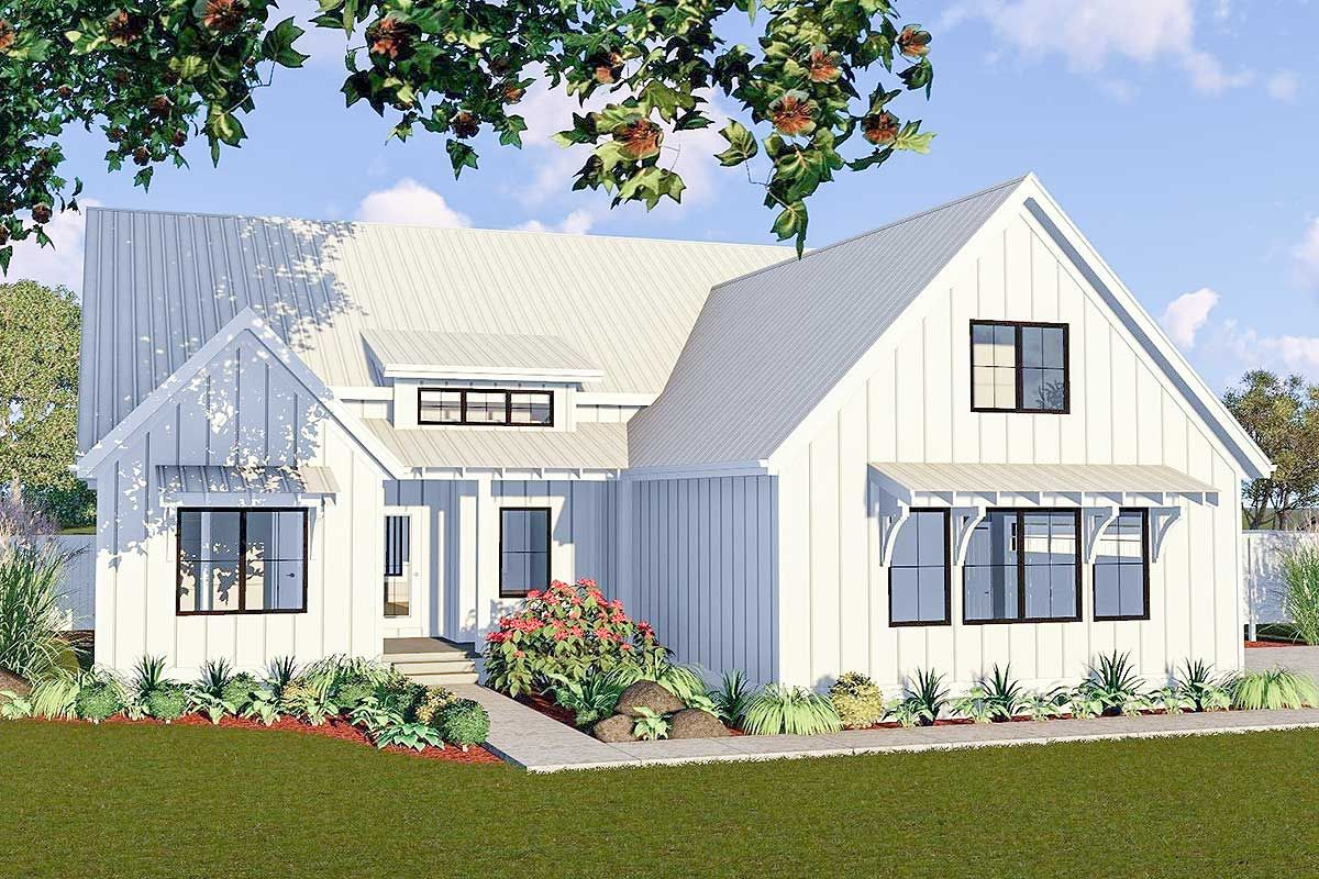 Plan 62738dj One Story 3 Bed Modern Farmhouse Plan Modern Farmhouse Plans House Plans Farmhouse Small Farmhouse Plans