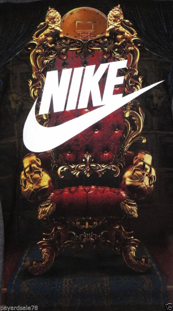 cheaper f624f a162c MEN S SIZE LARGE NIKE KING THRONE CHAIR BASKETBALL T-SHIRT LEBRON JAMES  50 50  nike  GraphicTee